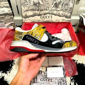 New In Box Gucci Ultrapace Sneakers Multi-colors